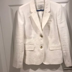 Jcrew women's white linen blazer
